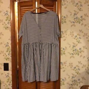 ASOS striped short sleeve dress